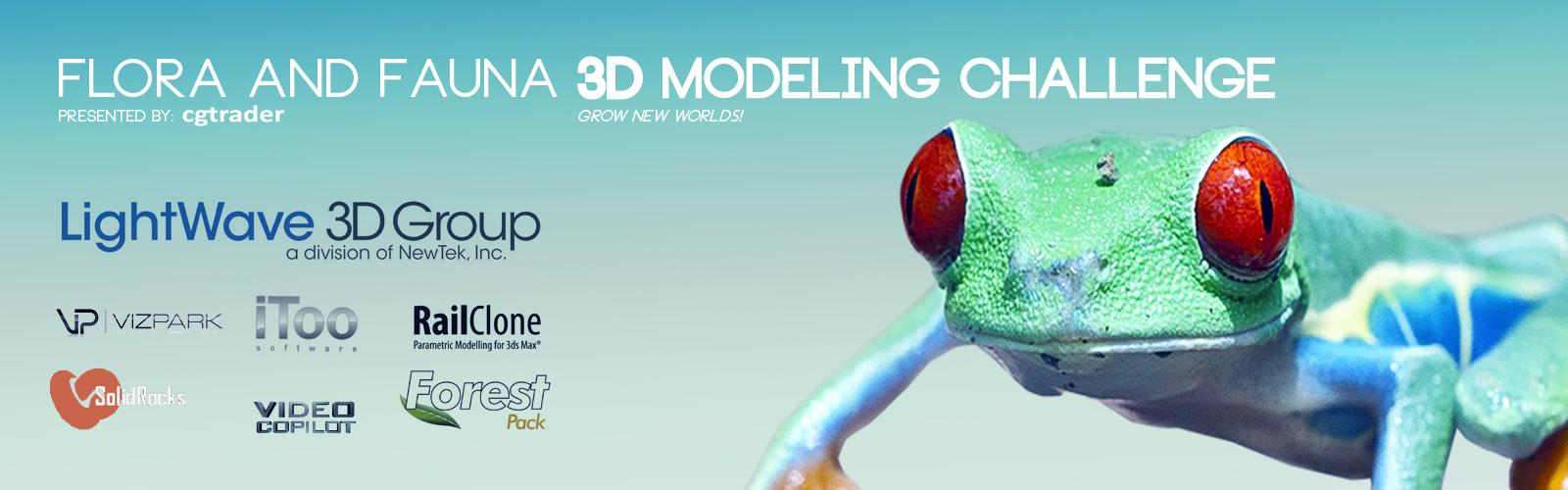Flora & Fauna 3D Modeling Challenge