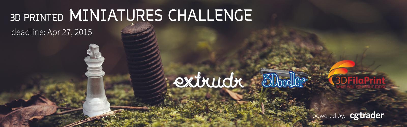 3D Printed Miniatures Challenge