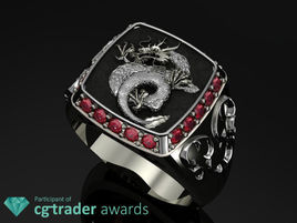 Signet Dragon ring by Teddy Himawan