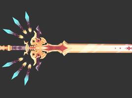 Lowpoly Handpaint Texture-Sword