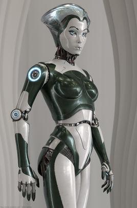 RobotSkin Female Android by David Letondor