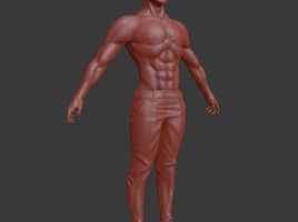 Asian Man Sculpt