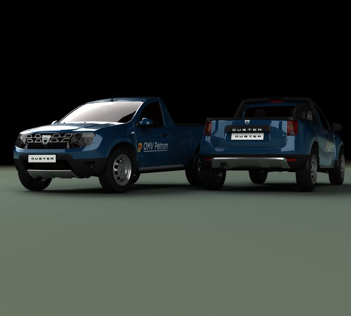 Dacia duster pick-up concept petrom romanian