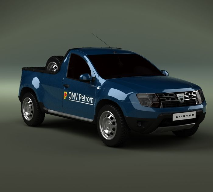 dacia duster pick up concept petrom romanian cgtrader. Black Bedroom Furniture Sets. Home Design Ideas