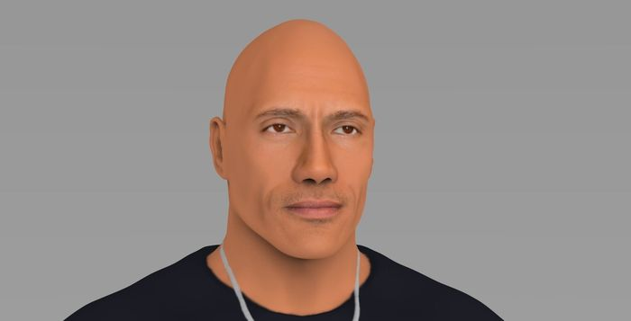 Dwayne The Rock Johnson for 3D printing