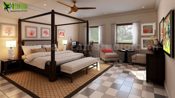 Unique Interior Bedroom Rendering Ideas By Yantram Interior Design Firms  Vancouver, Canada