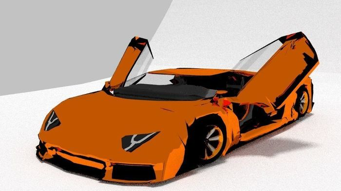 Lamborghini Aventador Open The Door Cgtrader