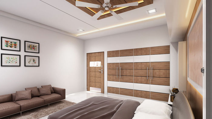 Rustic Bedroom 3D Interior Decorating Services