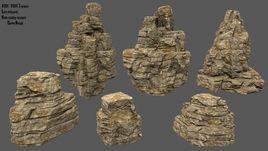 desert rocks set
