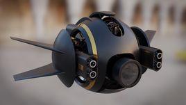 Transforming battle drone