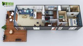 2D & 3D House Floorplans by Yantram architectural studio - Miami, USA