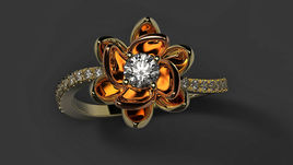 Beautiful flower ring 3d model for print