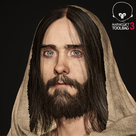 Realtime 3D Portrait of Jared Leto in Marmoset Toolbag