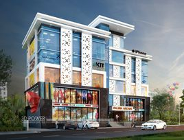 3D Architectural Rendering of Commercial Projects