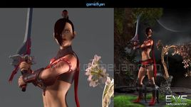 3D Lady Warrior Game Character Modeling by GameYan Character Design companies - Florida, USA