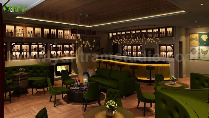 Bar restaurant interior design by yantram 3d interior for Design services london