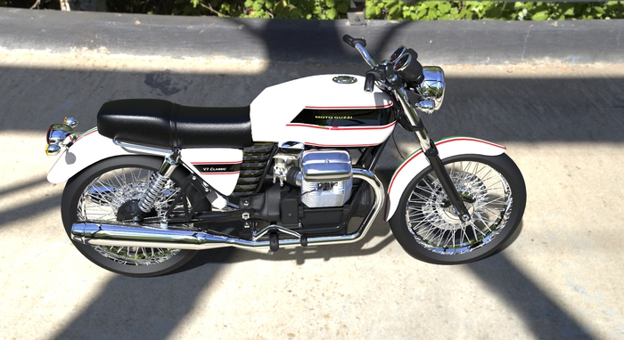 moto guzzi v7 classic 39 touring 39 cgtrader. Black Bedroom Furniture Sets. Home Design Ideas