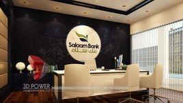 3D Interior Design Rendering Of Salaam Bank