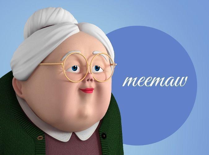Memaw Stylized Female Elderly Character 3D model