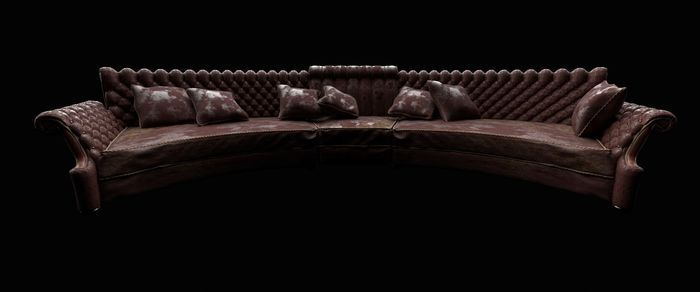Weathered Leather Sofa