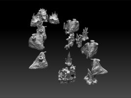 Frost World Printable Scenery Bundle I Preview - Settlement of Scythos
