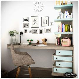 Light Blue Desk