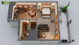 Small House Floor Plan Design Ideas by Yantram Floor Plan Designer, Chicago - USA