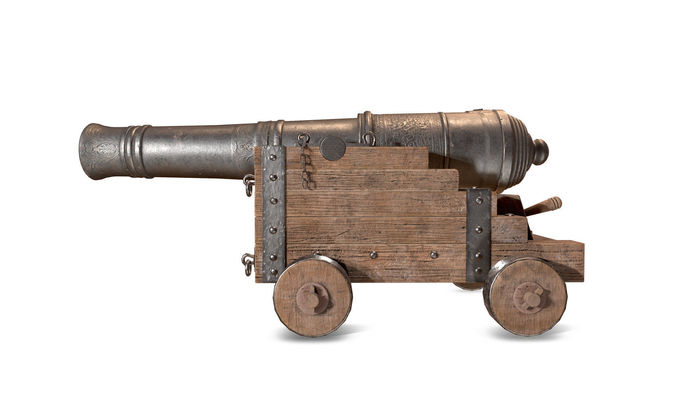 3D realistic rigged Cannon