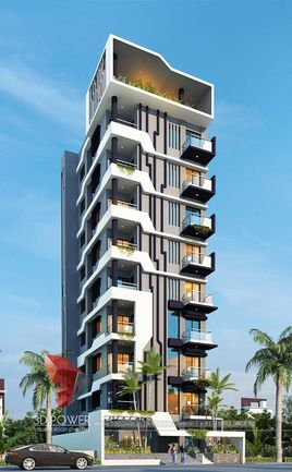 3D Rendering Of An Apartment-Highrise