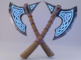 Viking rune axe