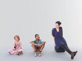 Sit Bundle - Ready-Posed [3DPEOPLE]
