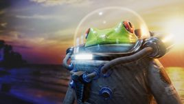 Space frog. Unity realtime