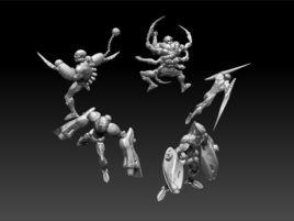 Cyberpunk Cyborg Squad Miniatures
