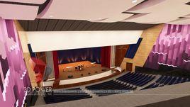 3D Interior Rendering Of An Auditorium