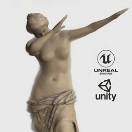 VR Sculpture Venus dab Milo by Dankelangelo Ultra-Low-Poly