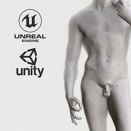 VR Sculpture David by Dankelangelo Ultra-Low-Poly