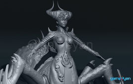 Gaming Low Poly Concept Character – Spider Mistress - USA, Los Angeles