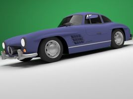 game ready low poly classic car