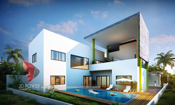 3D Rendering Of Modern House Exterior