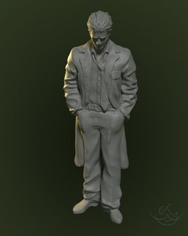 Study - a scientist. Model for 3D printing.