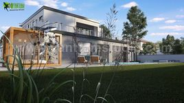 Modern 3D Exterior Villa Rendering Developed by Yantram Architectural and Design Services, London - UK