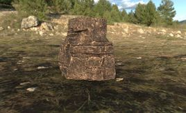 Low Poly Cliff Rock