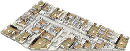 Floor plan 3D cutaway view