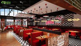 Modern Stylish Restaurant Interior Rendering Design By Yantram Architectural Modeling Firm, Sydney - Australia