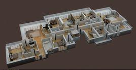3D FLOOR PLAN OF APPARTMENT BUILDING RENDER IN 3DMAX VRAY 3.4