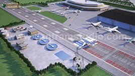 International Airport Terminal Concept exterior rendering services & 3d floor design By Yantram architectural visualisation studio, Brisbane – Australia