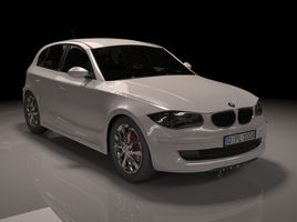 2009 BMW series 1 E87 - 3ds max modeled and rendered