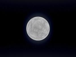 Glowing moon like planet