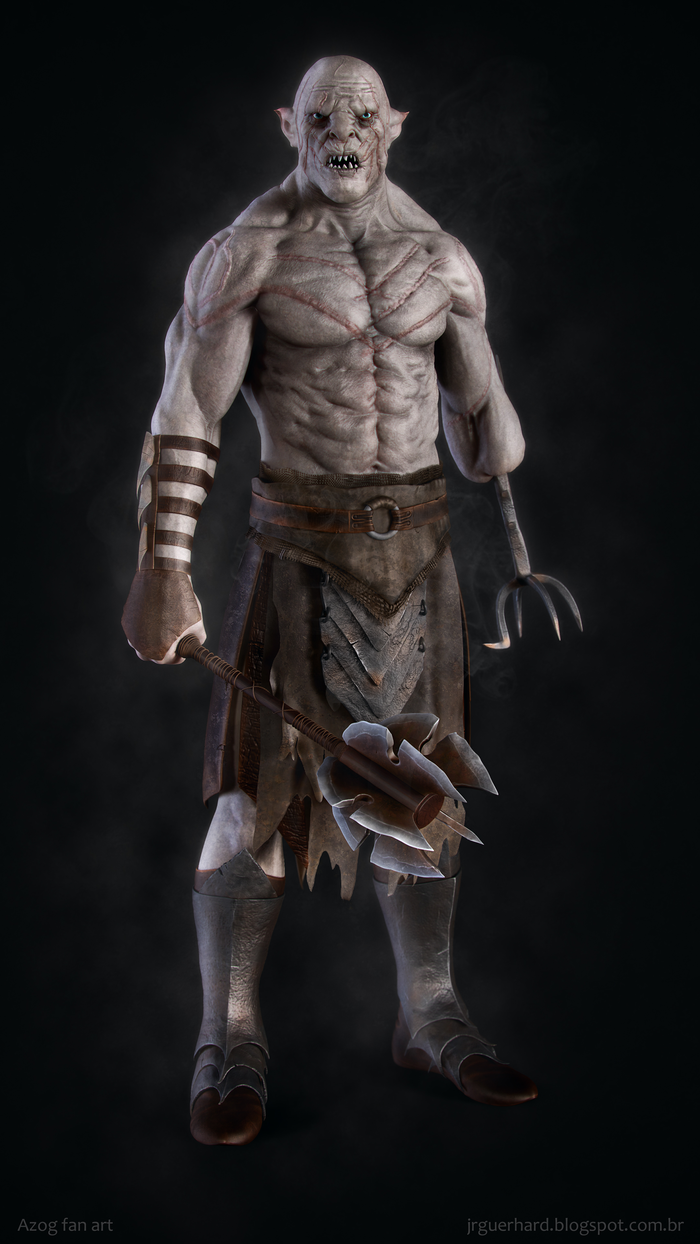 Buy And Sell Apps >> Azog Fan Art | CGTrader