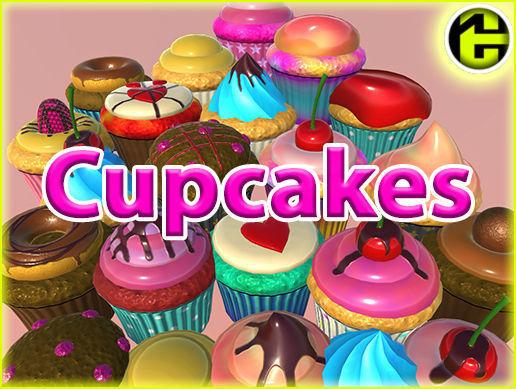 ultimate cupcake pack 3d model fbx unitypackage prefab 1